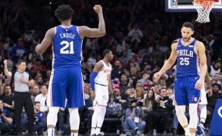 Kažkas naujo NBA padangėje: B.Simmonsas pataikė pirmąjį savo tritaškį!