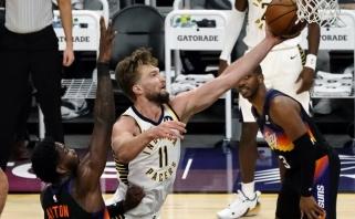 Sabonio trigubas dublis nukalė pergalę prieš vienus NBA lyderių