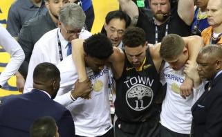 """""""Warriors"""" žvaigždė Thompsonas pradėjo treniruotis po dvejų metų pertraukos"""