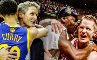 """S.Kerras apie 90-ųjų """"Bulls"""" ir dabartinių """"Warriors"""" pajėgumą: mes nugalėtumėm mus"""