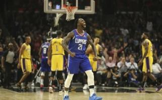 """Pirmoji NBA sezono bauda - kamuolį į tribūnas švystelėjusiam """"Clippers"""" įžaidėjui"""