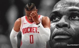 """R.Westbrookas pasiekė savo karjeros bei """"Rockets"""" klubo antirekordą"""