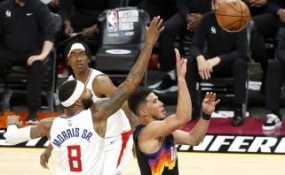 """NBA Vakarų konferencijos finalo serija startavo """"Suns"""" pergale"""
