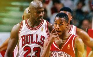 """Pirmieji M.Jordano žodžiai A.Iversonui: """"Kaip laikaisi, maža kalyte?"""""""